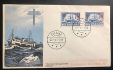 1958 Greenland First Day Cover FDC To Copenhagen Denmark East Expedition MXE