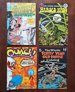 Comics Job Lot x4 - Quack | Forty Year Old Hippie | Harold Hedd | Dr Wirtham's