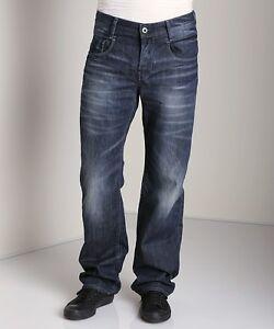 "G-Star Raw Mens New Radar Low Loose Jeans 28"" x 32"" BNWT Memphis Denim Dk Aged"