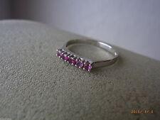 Solitäre Echte Edelstein-Ringe mit Rubin für Damen