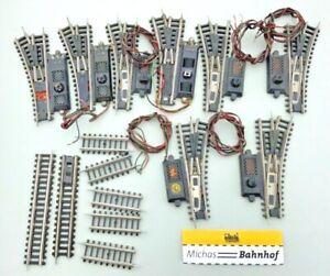 Rokal Weiche elektrisch Konvolut zum Basteln TT 1:120 Weichen rechts links å