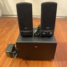 Cyber Acoustics 2.1 Powered Speaker System CA-3001NEW 2007 Black WORKS EUC