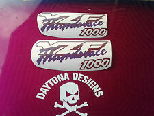 YZF THUNDERACE 1000 WINE/ BURGANDY/MAROON & PURPLE PAIR CUSTOM DECALS STICKERS