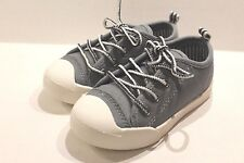 OshKosh Westley Boy's Gray Canvas Sneakers Shoes Toddler Boy Size 8 NEW