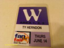 Rare Ty Herndon 2001 Fan Fair Laminate Pass
