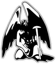 "Fallen Angel Lucifer Devil Diablo Evil Car Bumper Vinyl Sticker Decal 4""X5"""