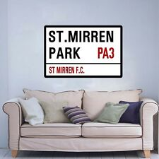 FOOTBALL ST SIGN ON AN 18 x 24 INCH CANVAS.READY TO HANG. ST MIRREN F.C.