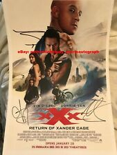 Xxx Return Xander Cage Vin Diesel Donnie Yen Dobrev Kris Wu Signed 12x18 Reprint