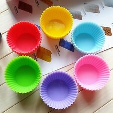 New Muti-color Cake Mold Silicone Round Muffin Chocolate Cupcake Baking Cup Mold