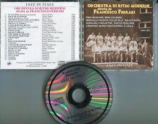 Francesco FERRARI CD jazz in italy © 2007 RJR CD 014 ITALY 26-Track Riviera Rec.