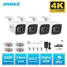 ANNKE Outdoor CCTV 4K 8MP Bullet Camera Home Surveillance System IP67 IR Night