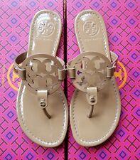 Tory Burch Miller Sand patent leather sandals flip flops 6M