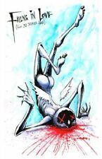 Falling in Love Cupid Watercolor Creepy Original Art Artwork Poster Print 4x6