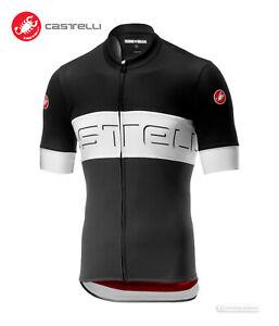 Castelli PROLOGO VI Short Sleeve Cycling Jersey : BLACK/IVORY/DARK GREY