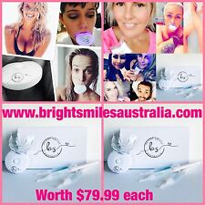 2 x Teeth Whitening Kits Home Bleach DIY Vegan Pearly Whites Kardashian White