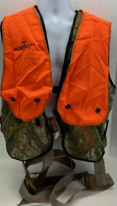 Gorilla Tree Stand Fall Defense Safety Harness Vest Timber Camo Orange 3lbs