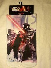 New Star Wars Disney Size 6-8 Full Graphic Socks, Darth Vader & Storm Trooper