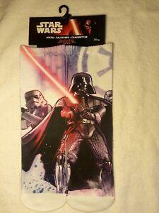 4 New Star Wars Disney Size 6-8 Full Graphic Socks, Darth Vader & Storm Trooper