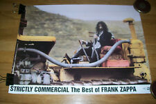Frank Zappa Strictly Commercial Best Of Original Promo Poster Ryko Bulldozer