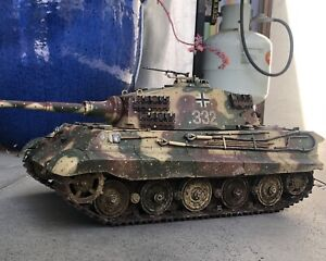 CUSTOM PAINTED RC Heng long King Tiger Tank 1/16 Scale With UPGRADED METAL PARTS