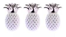 NEW  White PINEAPPLE JAR TEA COFFEE SUGAR CANISTER 3PC STORAGE POT