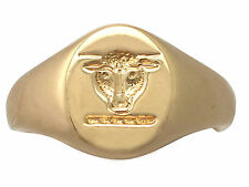 Antique 18 ct Yellow Gold Signet Ring 1929