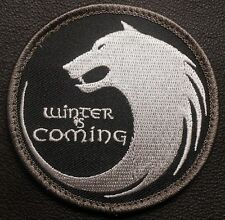 WINTER IS COMING HOUSE STARK WOLF FACE GOT SWAT VELCRO® BRAND FASTENER PATCH