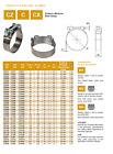 Bolt hose clamp robust choose hose diameter upto 100, type, pack ,Italy