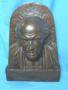 Ernesto Tamariz Bronze head of Miguel Hidalgo I. Costilla beautiful piece