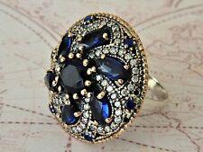 Turco ottomano Argento Sterling 925 Hurrem sultan Gemstone Amethyst anello