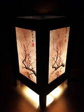Japanese Cherry Blossom Tree Art Bedside Desk Table Lamp Shades Asian Oriental