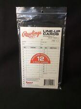 Rawlings System 12 Forms Cards Baseball/Softball Nib (Qw)