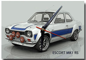 MK1 ESCORT RS METAL WALL CLOCK,VINTAGE CARS,CLASSIC CARS,