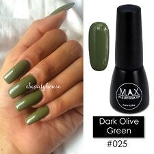 MAX 7ml Nail Art Color UV LED Soak Off Gel Polish #025-Dark Olive Green