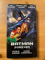 Batman Forever VHS (Val Kilmer  Jim Carrey Nicole Kidman) *Good condition*