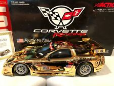2001 Action Dale Earnhardt Sr Jr Andy Pilgrim 1/18 #3 Corvette Gold Chrome