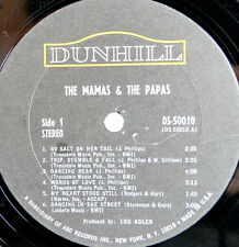 """The Mamas And The Papas Vintage 1966 LP Vinyl  Record 12"""" Dunhill DS 50010"""