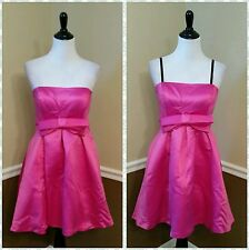 Modcloth $178 Betsey Johnson 6 Hot Pink Strapless Formal Dress Bow Homecoming