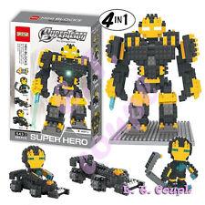 1BLACK super hero iron marvel avengers ultron armor diamond blocks hullk buster