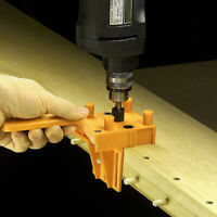 Handheld Woodworking Doweling Jig Drill Guide Wood Dowel Drilling Hole Saw Kit
