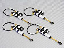 RC 1/10 TRUCK Suspension 110MM PIGGYBACK SHOCKS ABSORBER Aluminum WHITE -4PCS-