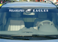 "🔥 🔥 Philadelphia Eagles 24"" Vinyl Car Truck Decal Window Sticker White"