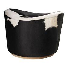 Unique Stoccolma pouf sgabello, bianco, nero, funzione girevole
