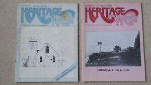 "1982 & 1983 BRITISH COLUMBIA ""HERITAGE WEST"" magazines. ATLIN. VANDERHOOF. MAYNE"