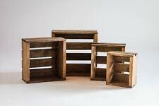 Darla's Studio 66 Set of 4 Nesting Box Wood Crates