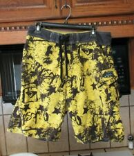 Quiksilver 1990's vintage surf trunks board shorts  Men's 34 waist Wild Yellow