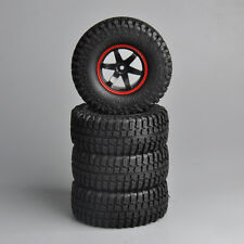 "4Pcs Rubber Rock Crawler 1.9"" Tires&Wheels 12mm Hex For RC 1/10 Car Truck 02"