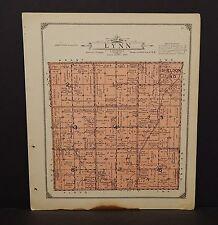 Iowa Sioux County Map Lynn Township  1917   W11#38
