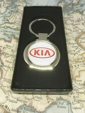Chrome Keyring With Printed Kia Logo
