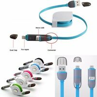 2 In1 USB Stretch Sync Cable Charger Retractable Connector  EN